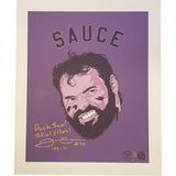 Sauce - Jimmy Kleinsasser Autographed Wall Art - 1/1