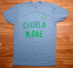 Churla. McRae. : Unisex T-Shirt - Dark Heather Gray - Pick & Shovel Wear