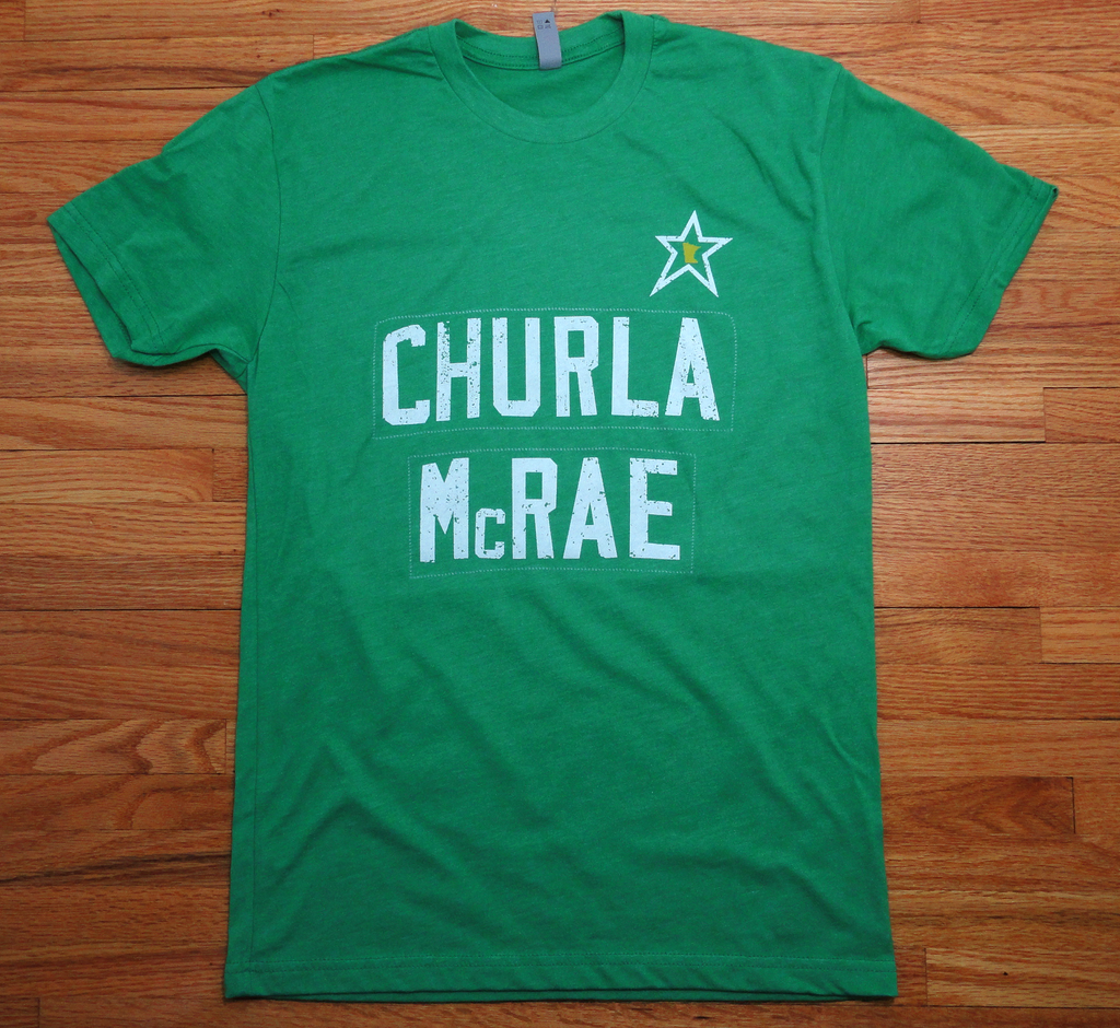 Churla. McRae. : Unisex T-Shirt - Kelly Green - Pick & Shovel Wear