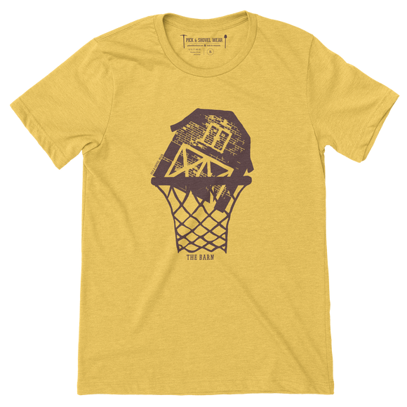 The Barn - Minnesota Basketball - Adult Unisex T-Shirt - Heather Gold