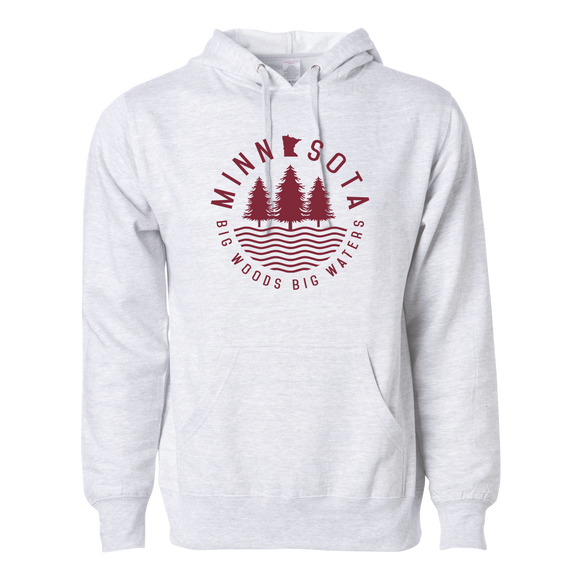 Big Woods Big Waters - Midweight Hooded Pullover Sweatshirt