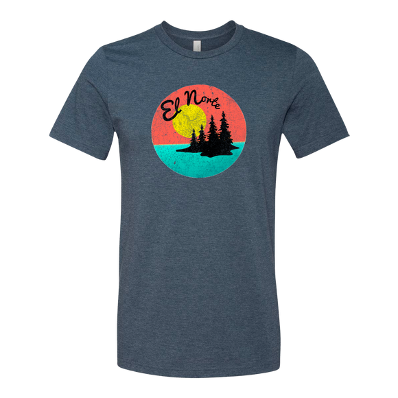 El Norte - Adult Unisex T-Shirt - Heather Slate - Pick & Shovel Wear