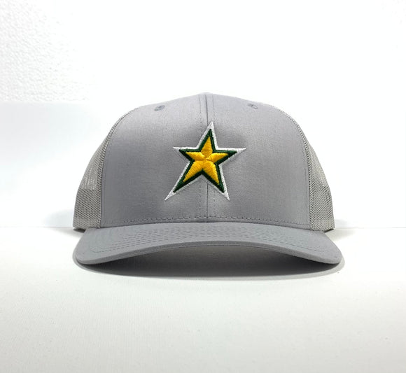 North Star  - Snapback Cap - Silver