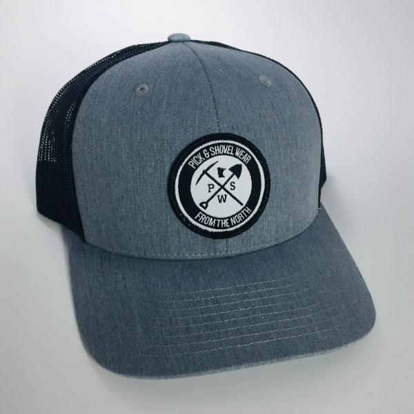 From the North - Pick & Shovel Wear Logo PSW Trucker Snapback Cap - Heather Gray/Black - Pick & Shovel Wear