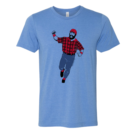 Kirby Bunyan - Adult Unisex T-Shirt - Blue - Pick & Shovel Wear