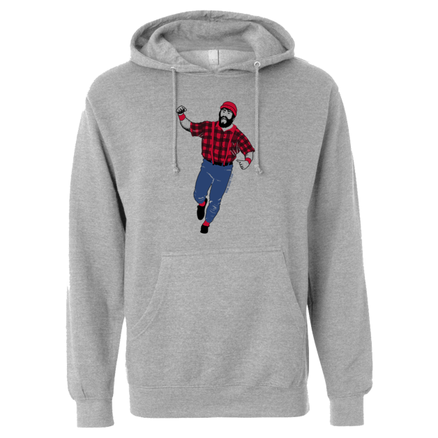 Kirby Bunyan - Midweight Hooded Pullover Sweatshirt - Athletic Gray - Pick & Shovel Wear