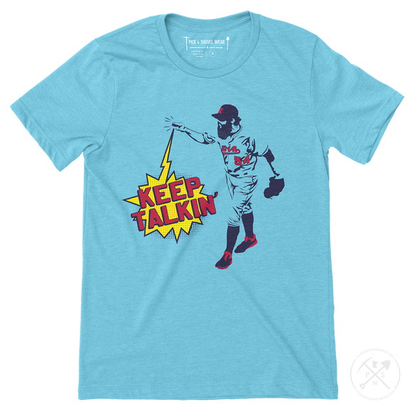 KEEP TALKIN' - Minnesota Baseball - Adult Unisex T-Shirt