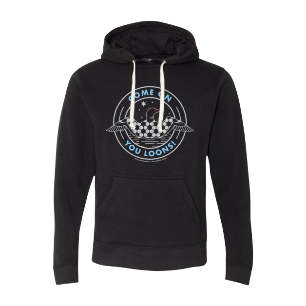 Come On You Loons! - Minnesota Soccer - Adult Lightweight Pullover Hoodie - Pick & Shovel Wear