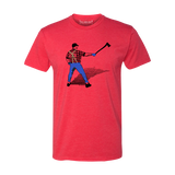 A Man with an Ox in the Batters Box - Unisex T-Shirt - Heather Red - Pick & Shovel Wear