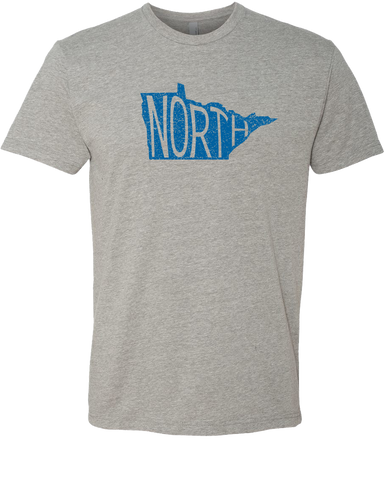 Minnesota North : Unisex T-Shirt - Dark Heather Gray - Pick & Shovel Wear