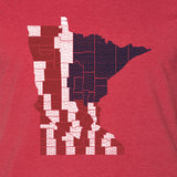 MN County Flag - Adult Unisex T-Shirt - Pick & Shovel Wear