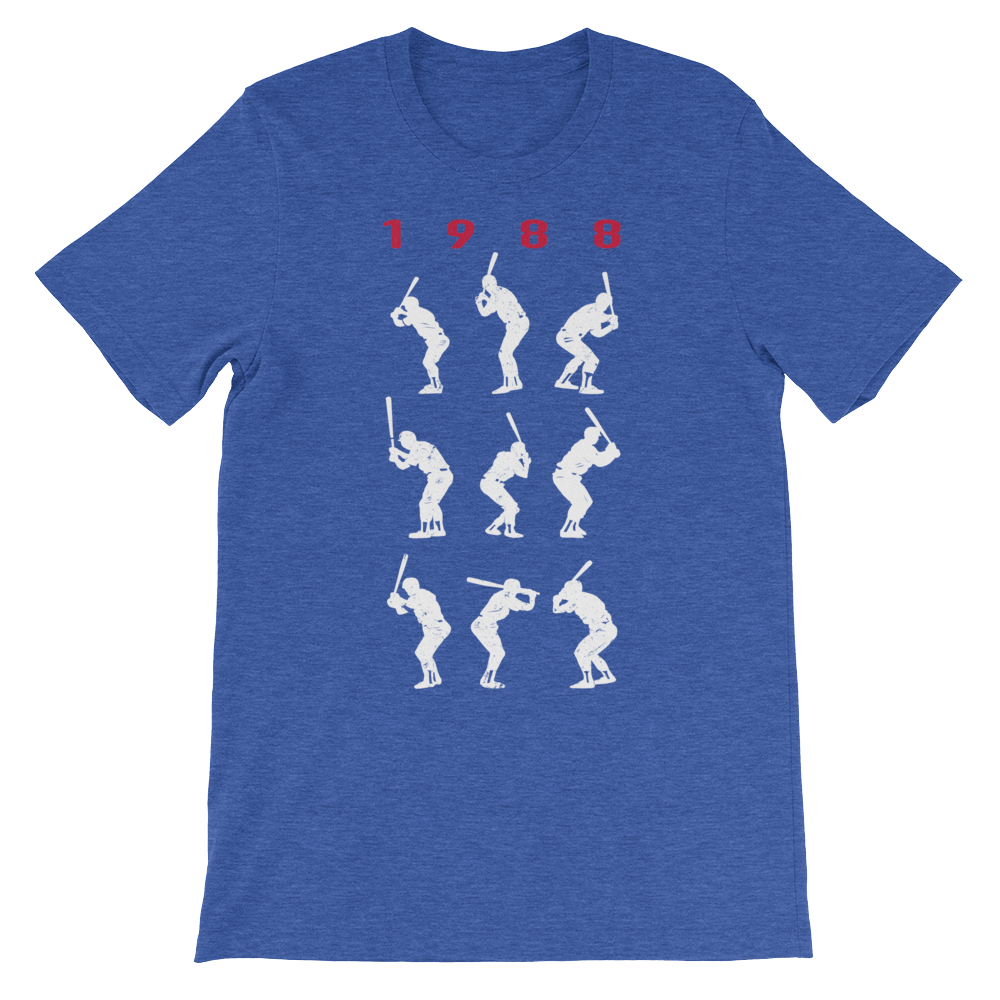 1988 Series Champion Batting Stances - Unisex T-shirt - Pick & Shovel Wear