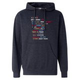 All-Time Great Nicknames - Midweight Hooded Pullover Sweatshirt