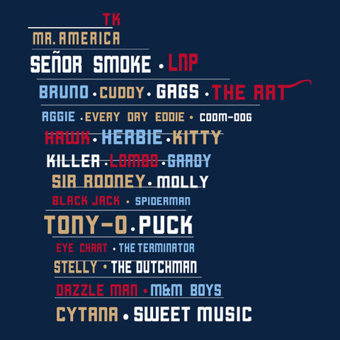 All-Time Great Nicknames - Unisex T-Shirt - Pick & Shovel Wear