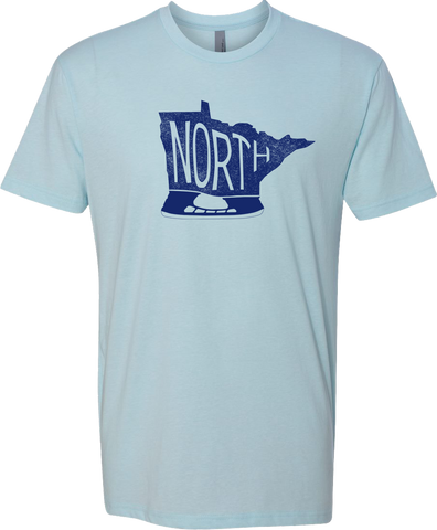 Minnesota - North Hockey Skate - Ice Blue - Unisex T-Shirt - Pick & Shovel Wear