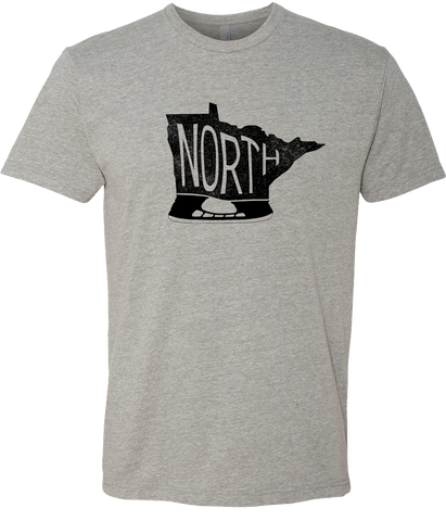 Minnesota - North Hockey Skate - Dark Heather Gray - Unisex T-Shirt