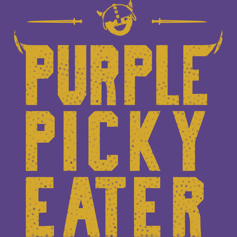 Purple Picky Eater - Adult Unisex T-Shirt - Heather Purple - Pick & Shovel Wear