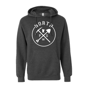 PSW North Logo - Midweight Hooded Pullover Sweatshirt - Pick & Shovel Wear