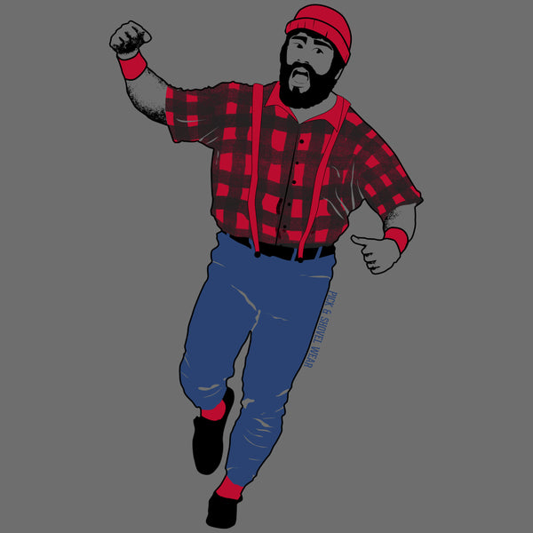 Kirby Bunyan - Adult Unisex T-Shirt - Dark Gray - Pick & Shovel Wear