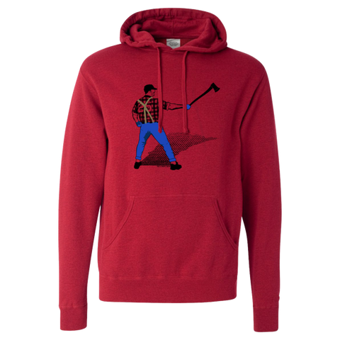 A Man with an Ox in the Batters Box - Adult Lightweight Pullover Hoodie - Pick & Shovel Wear