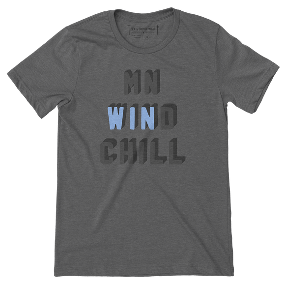 MN WINd Chill - Minnesota Ultimate Disc - Adult Unisex T-Shirt - Pick & Shovel Wear