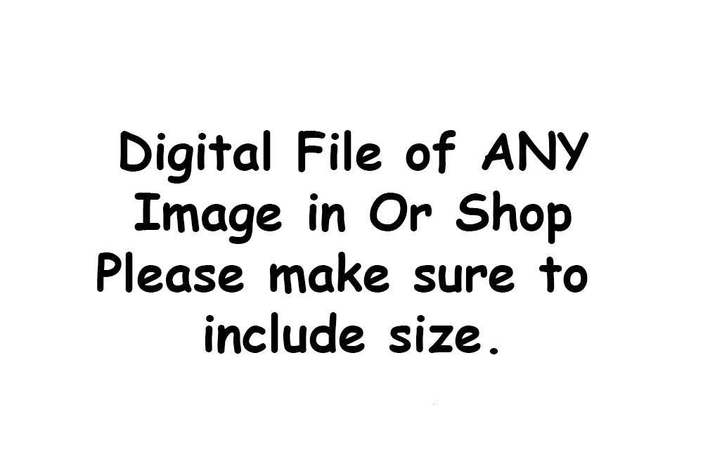 Digital Copy of Any Item in The Shop, Just Let Us Know Which Item you would Like to be sent to your GOOGLE DRIVE