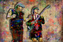 AC/DC Poster, AC/DC Angus and Brian Johnson Gift, AC/DC Tribute Fine Art