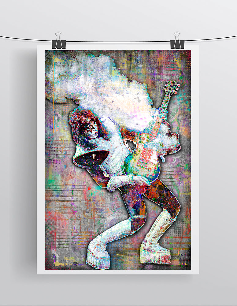 Ace Frehley of KISS Poster, Kiss Tribute Fine Art