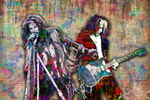 Aerosmith Poster, Steven Tyler and Joe Perry of Aerosmith Gift, Aerosmith Fine Art