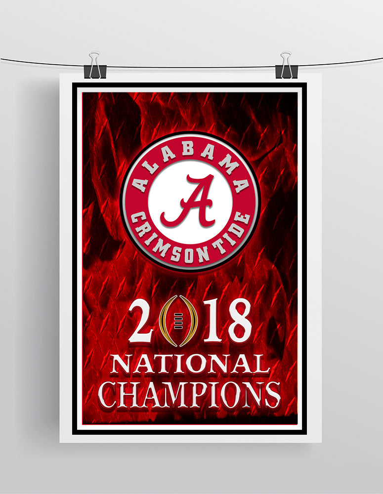 Alabama Crimson Tide 2018 National Championship  Poster, Bama Cave Picture