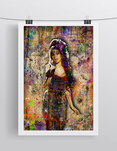 Amy Winehouse Poster, Amy Winehouse Gift, Amy Winehouse Tribute Fine Art