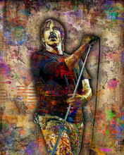 Anthony Keidis Poster, RHCP Portrait Gift, Red Chili Peppers Fine Art