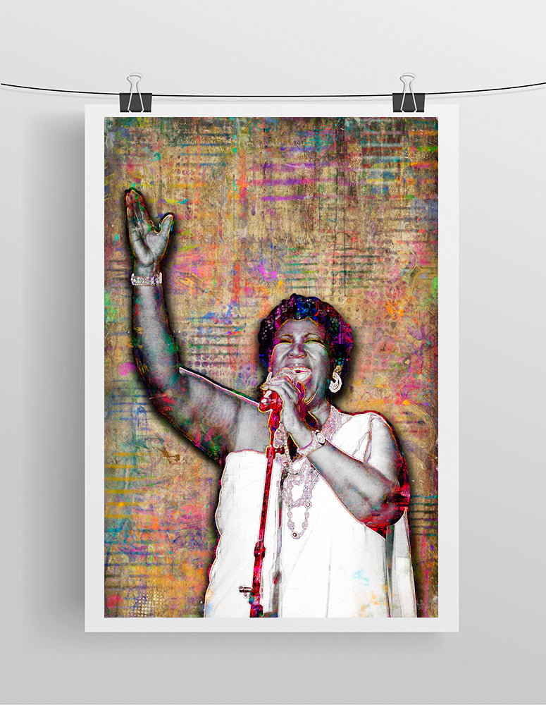 Aretha Franklin Queen of Soul Poster, Aretha Franklin Tribute Fine Art