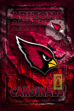 Arizona Cardinals Football Poster, Arizona Cardinals Gift, Arizona Cardinals Map Art