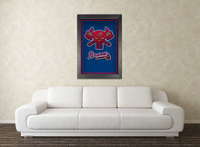 Atlanta Braves Punisher Logo Baseball Poster, Braves Print, ATL Braves Gift