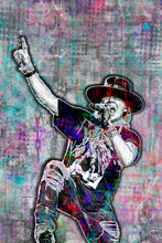 Axl Rose Poster, Guns N Roses Landscape Gift, Axl Rose Colorful Layered Tribute Fine Art