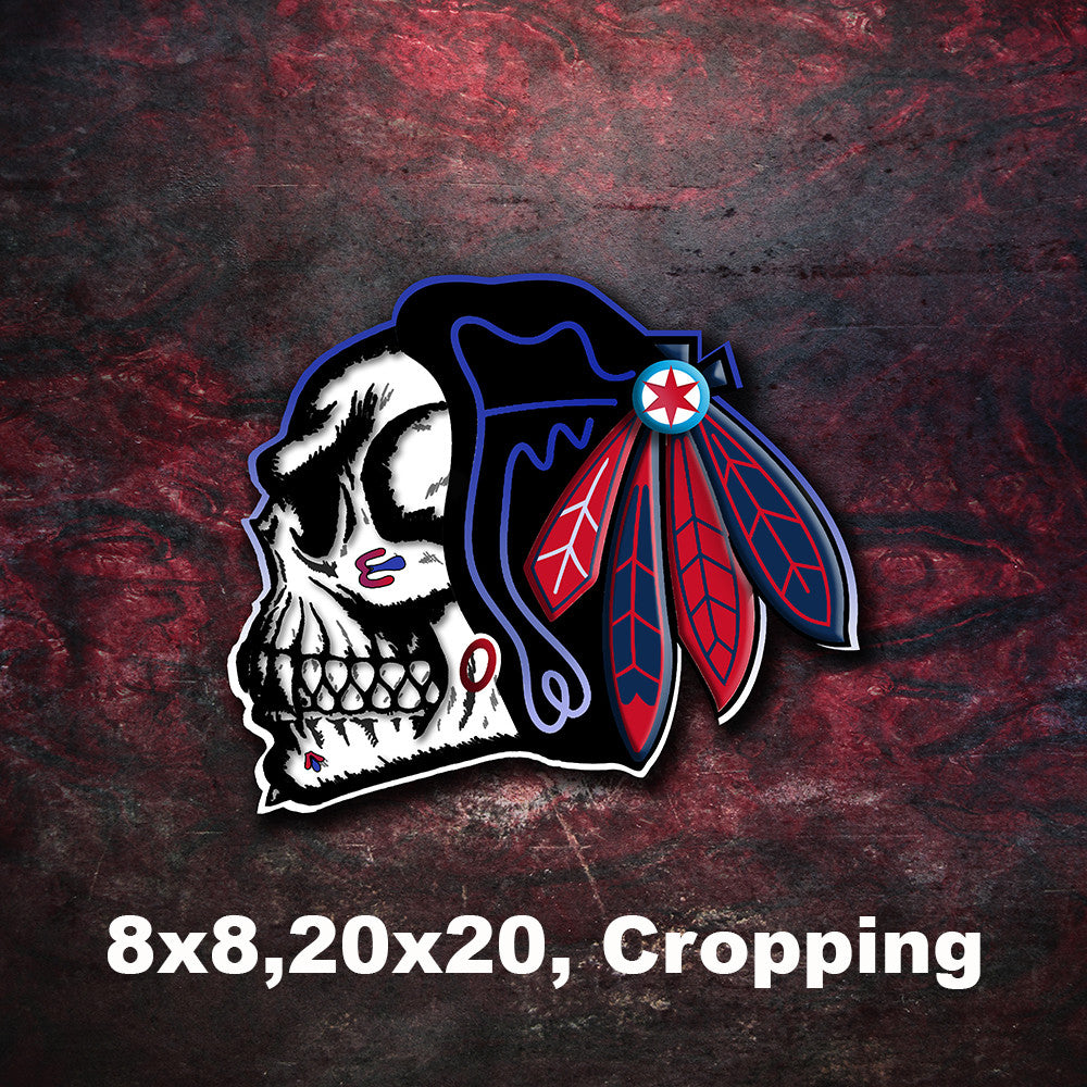 finest selection a2739 8ef62 Chicago Blackhawks Skull Poster, Chicago Blackhawks Skull for Man Cave or  any Special Occasion, Gift