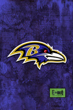 Baltimore Ravens Football Poster, Baltimore Ravens Art, Baltimore Ravens Gift, Ravens Man Cave