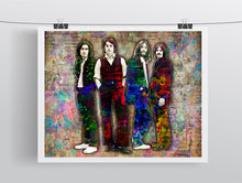 Beatles Poster, George, Paul, John, Ringo of The Beatles Gift, Beatles Tribute Fine Art