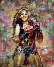 Beyonce Poster, Beyonce Pop Art, Beyonce Colorful Layered Tribute Fine Pop Art