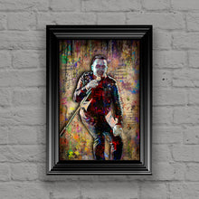 Bono Poster, U2 Portrait Gift, Bono of U2 Colorful Layered Tribute Fine Art