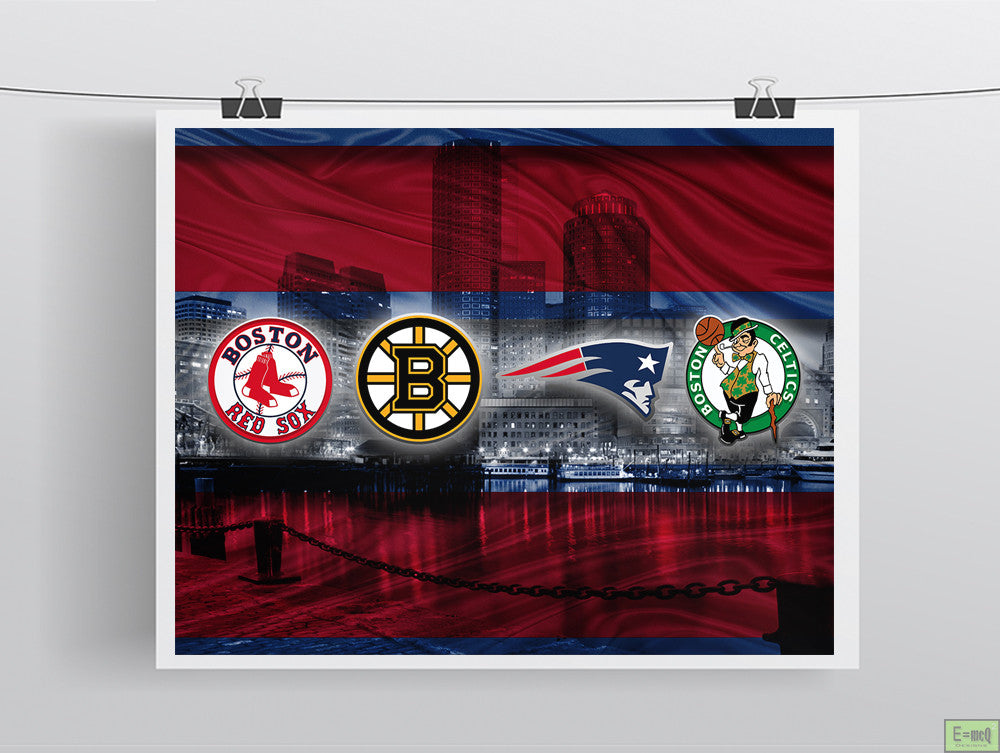Boston Red Sports Teams Poster