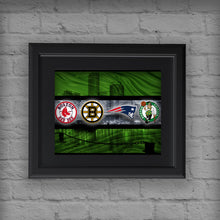 Boston Sports Teams Poster, Boston Celtics, New England Patriots, Boston Bruins, Boston Red Sox