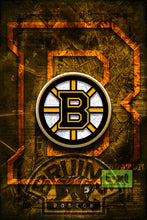 Boston Bruins Hockey Poster, Bruins Man Cave Poster, Bruins Gift, Boston Hockey Print