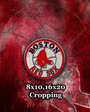 Boston Red Sox Poster, Red Sox Artwork Boston Gift, Red Sox Layered Man Cave Art,Boston Map