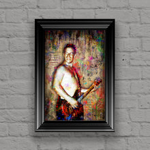 Bradley Nowell Poster, Sublime Portrait Gift, Bradley Nowell Colorful Layered Tribute Fine Art