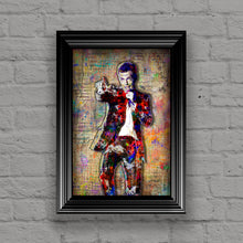 Killers Brandon Flowers Poster, Killers Gift, Brandon Flowers Colorful Layered Tribute Fine Art