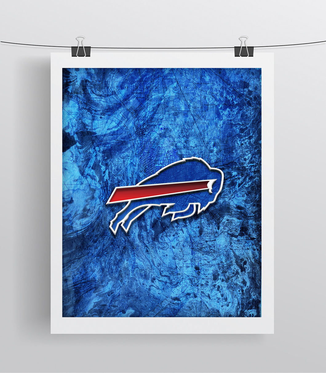 Buffalo Bills Poster, Buffalo Bills Football Poster, Bills gift, Buffalo Bills Man Cave
