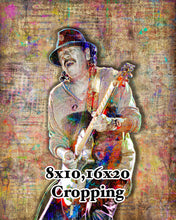 Carlos Santana Poster, Carlos Santana Portrait Gift, Santana Colorful Layered Tribute Fine Art