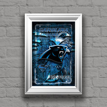 Carolina Panthers Football Poster, Carolina Panthers Gift, Panthers Map Art, Panthers Man Cave